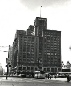 Old Hudsons Building Downtown Detroit